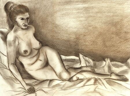 Illustration naked woman - I am author of this image Stock Illustration - 334954
