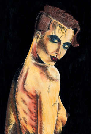 Illustration  woman - I am author of this image Stock Illustration - 334951