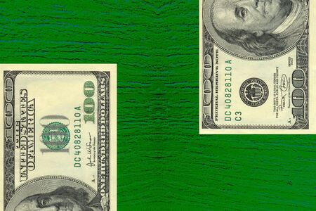 alliances: Green dollars on green backgrounds Stock Photo