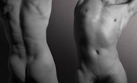 uomini nudi: Due uomini nudi Archivio Fotografico