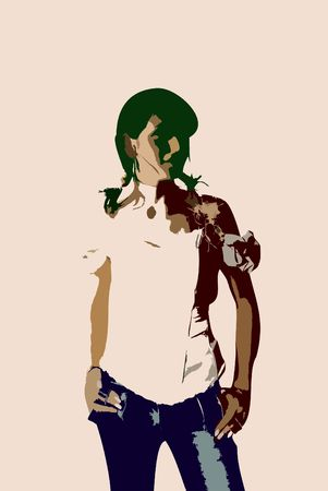 Illustration of girl Stock Illustration - 338084