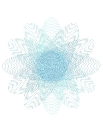 Ornate scrolled circle design