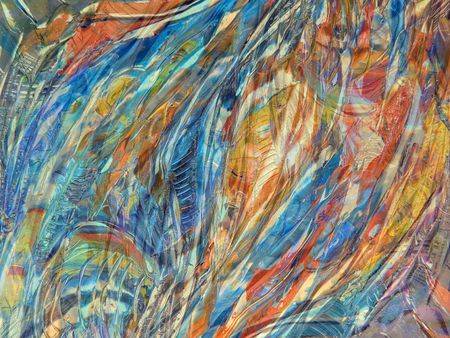 Abstract backgrounds paintings on oil canvas Stock Photo
