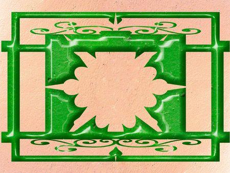 Ornate panel scrolled designe Stock Photo - 340986