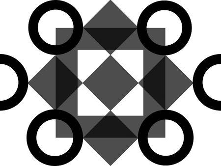 grigiastro: Ornato scorse cerchio design Archivio Fotografico