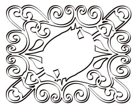 Ornate panel scrolled designe Stock Photo - 344876