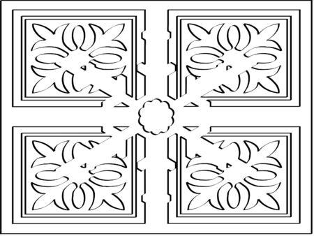 Ornate cubic designe Stock Photo - 344874
