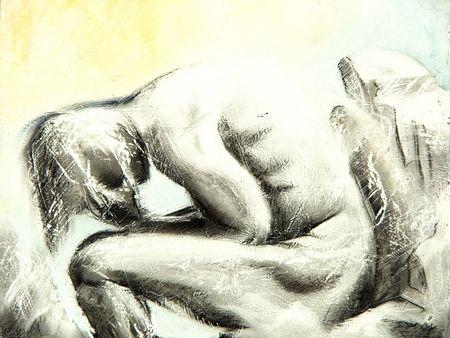preocupacion: Ilustraci�n del hombre de la preocupaci�n - soy autor de esta imagen