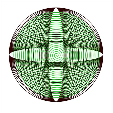 designe: Ornate curcle scrolled designe