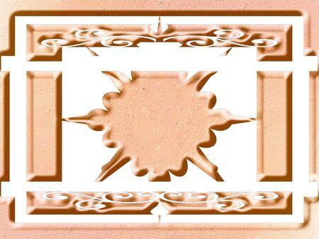 Ornate panel scrolled designe Stock Photo - 344841