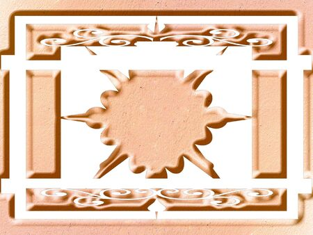 Ornate panel scrolled designe Stock Photo - 344841