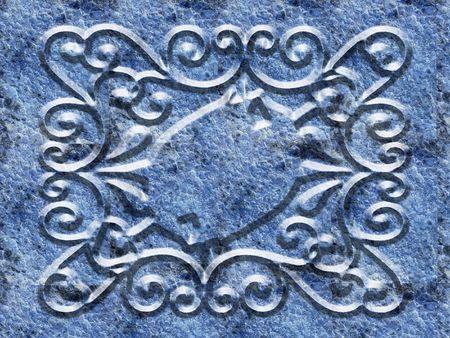 Ornate panel scrolled designe photo