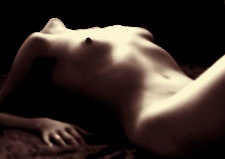 Naked woman torso - focus behind model Stock Photo - 349202
