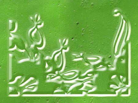 designe: Ornate colours corner designe
