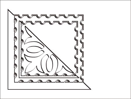 designe: Ornate scrolled corner designe