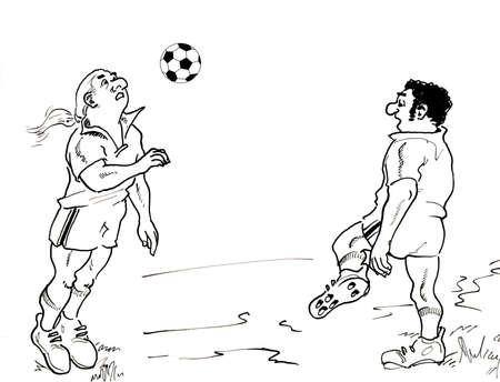 Illustration of soccers illustration