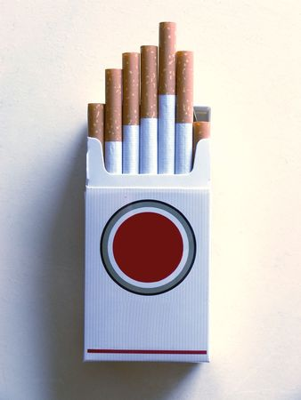 Filter of cigarette Stock Photo