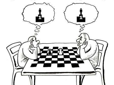 rey caricatura: Ilustraci�n de juego de ajedrez - Soy autor de esta ilustraci�n