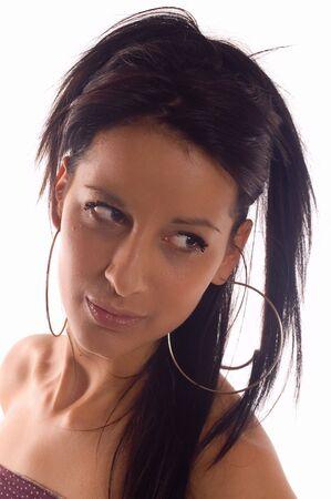 pensiveness: Ritratto di una donna bruna moda Marija