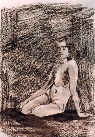 illustration of naked woman Stock Illustration - 1066481