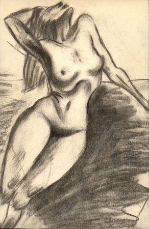 Illustration naked woman Stock Illustration - 1066489