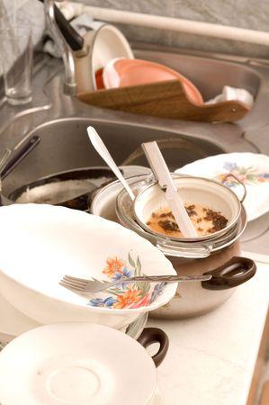 lavare piatti: Dirty piatti lavello in cucina