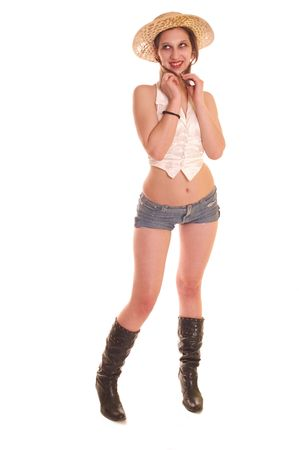 Beautiful young female dressed at provocative clothing       Stock Photo - 2826931