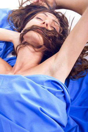 Young sexy girl cloth-bound sleeping and dreams Stock Photo - 3679562