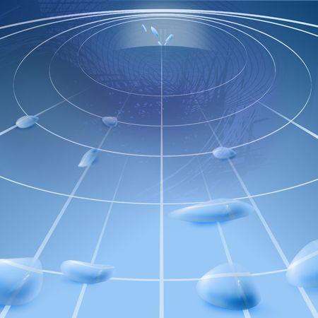 gravitation: Abstract vision gravitation of earth