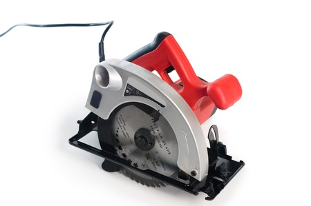 electric saw: Electrical saw with circular blade for wood