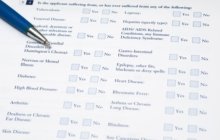 required: Medical  form that requires to fill out required information about your illness
