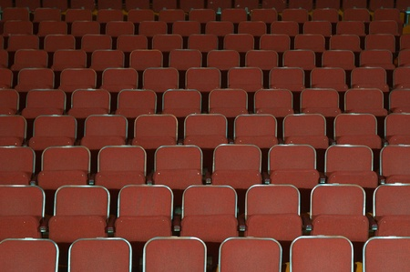 Empty opera, cinema, musical or theatre seats Stock Photo