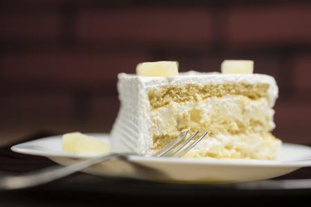 Köstliche Scheibe des Kuchens Standard-Bild