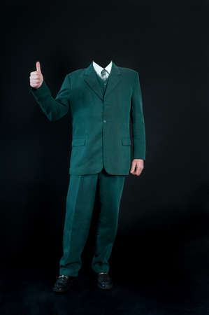 invisible: Invisible business man standing with thumb up of fingers
