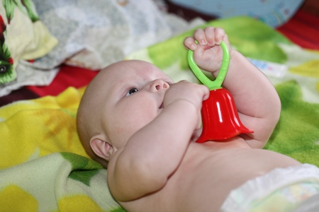 progeny: Portrait of the small child Stock Photo