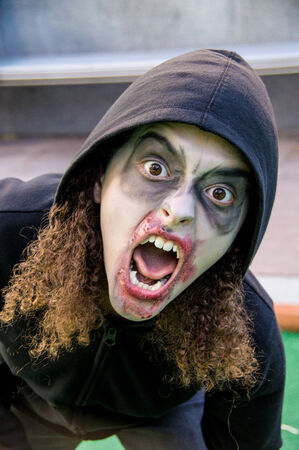 gruesome: Zombies invade the 16th St. Mall in Denver, Colorado on October 19, 2013