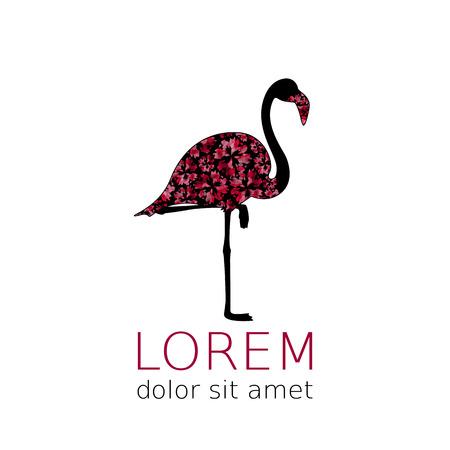 eleg�ncia: Flamingo silhueta �til para �cone da moda. S�mbolo da eleg�ncia
