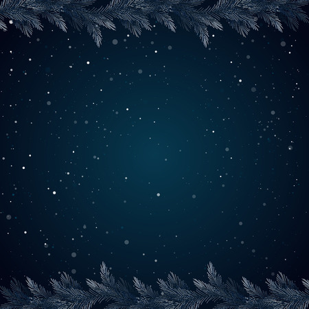 snowcovered: Christmas background, borders, frames, pine twigs. Snow-covered spruce branches.