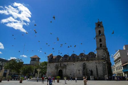 San Fransico Basilica in HavanaHavanaCuba02 / 04/2018 Redactioneel