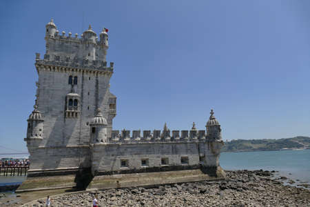 Portugal, Lisbon, Belem Tower. Belem Tower, officially the Tower of Saint-Vincent is a 16th century fortification located in Lisbon that served as an embarkation and disembarkation point for Portuguese explorers and as a ceremonial gate to Lisbon. It was built during the Portuguese Renaissance.