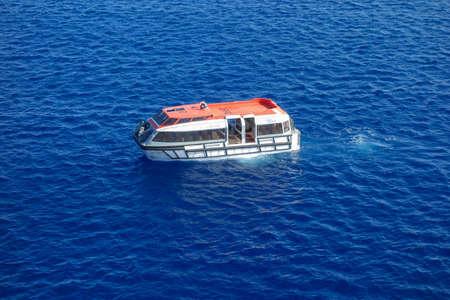 MSC Divina Cruise Ship Lifeboat caribbean sea 2017 Reklamní fotografie