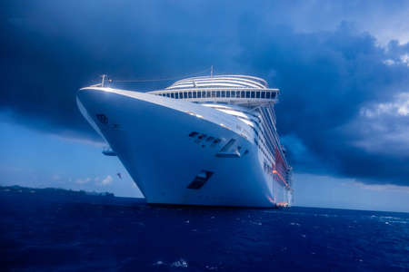 Cruise ship MSC Divina caribbean sea 2017