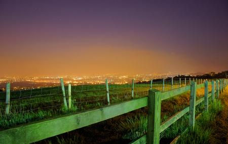 city light: Fence and city light