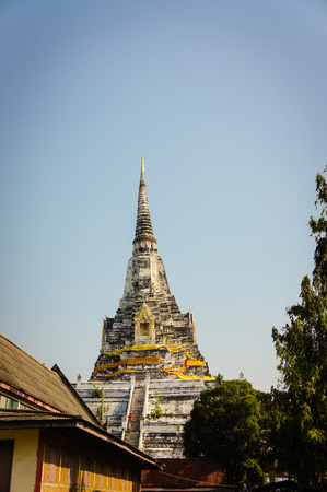 place of interest: Temple in  Ayutthaya city Thailand