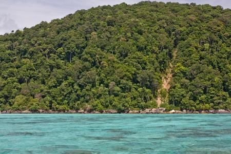land slide: Land Slide at Surin Island Stock Photo