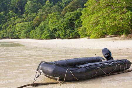 Navy boat at Surin Island photo
