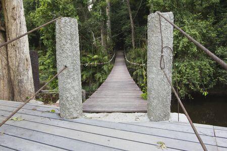 Wooden bridge at Khao Yai national park photo