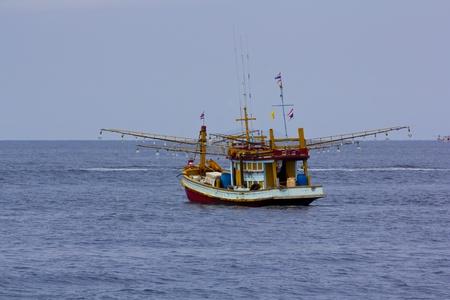 Fishing Boat at Kuraburi  in Thailand photo