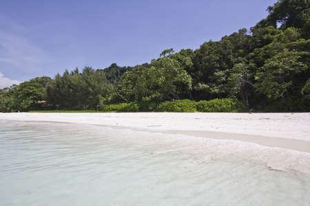 White sand beach at Tachai Island in Simailan national park Stock Photo