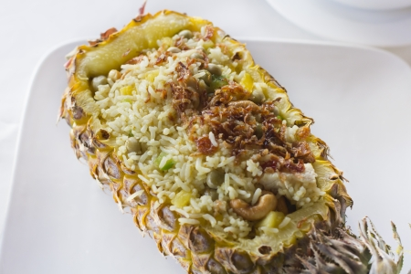 Pineapple fried rice in Thailand photo